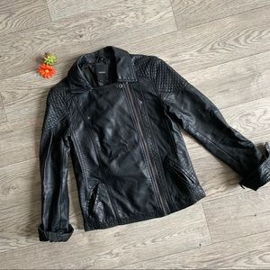 Black leather cute jacket